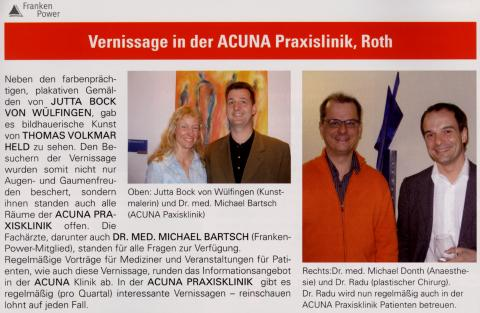Vernissage in der Acuna